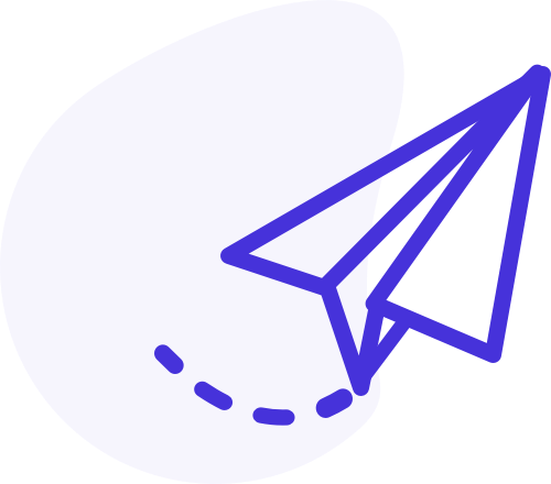 A paper aeroplane icon