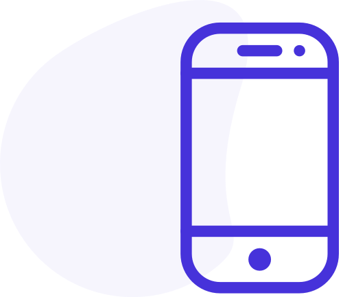A phone outline icon
