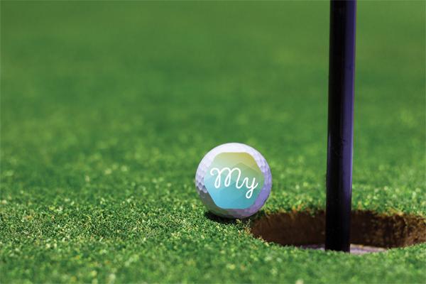 My Insolvency logo on golf ball